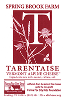 Spring Brook Tarentaise cheese